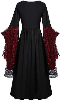 Briskorry Middeleeuwse gothic jurk dames oversized vlindermouwen avondjurken heks sexy partyjurk jaren 50 cocktailjurk geb...