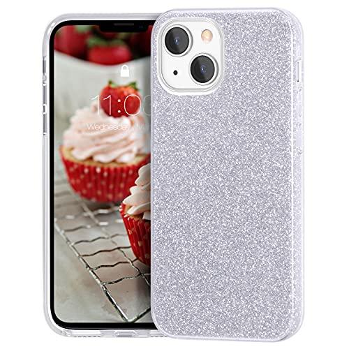MATEPROX Custodia Brillantini Compatibile con iPhone 13 Mini/iPhone 12 Mini Cover Scintillante Cristallo Glitter Protettiva Covers per iPhone 13 Mini/iPhone 12 Mini 5,4''-Argento