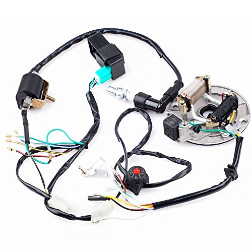 CISNO Kick Start Dirt Pit Bike Wire Harness Wiring Loom CDI Coil Magneto 50-125cc