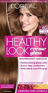 L'Oreal Paris Healthy Look Creme Gloss Color, Light Golden Brown/Golden Praline 6G (Pack of 3)