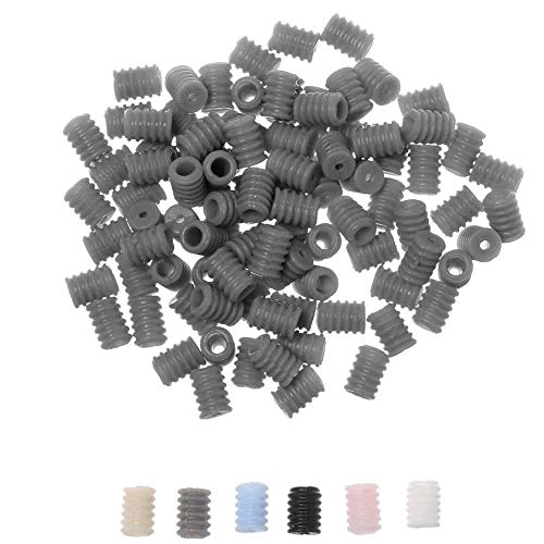 1000Pcs Cord Locks for Elastic, Silicone Toggles for Drawstrings Adjustable Lanyard Buckle, Elastic Cord Adjuster Tightener, Non Slip Elastic Stoppers Fastener, Gray