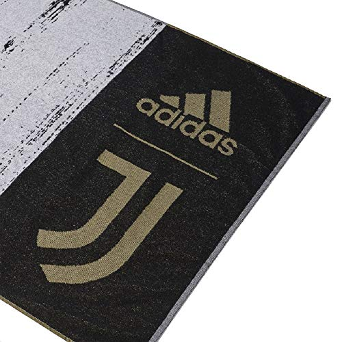 adidas JUVE - Asciugamani unisex per adulti, colore: nero, taglia unica