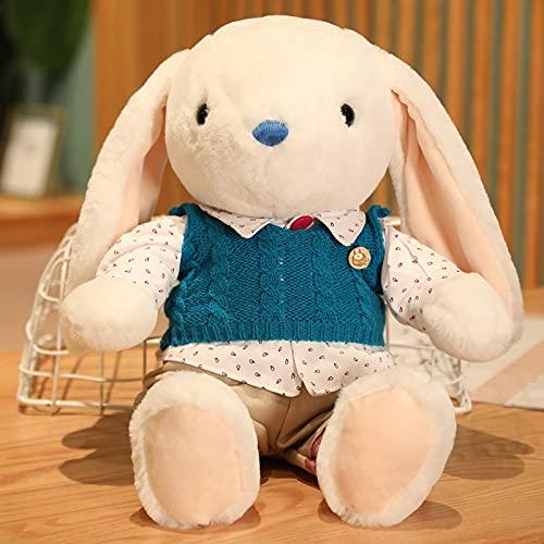 Peluches 32cm Amantes Lindos Conejo De Peluche De Juguete con Suéter Conejo Muñeca Niños Cumpleaños