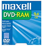 Maxell DVD-RAM Media 9.4GB Double Sided Rewritable (1-Pack)...