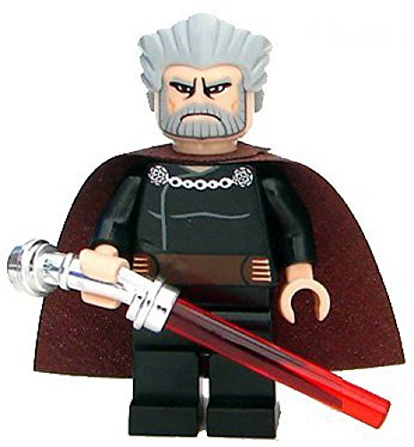 LEGO Star Wars: Count Dooku Minifigur mit rotem...