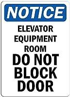 品質の金属ブリキ看板、通知-エレベーター機器ルーム駐車場装飾記号キッチン通り装飾装飾標識サインポスターにサインしないでください