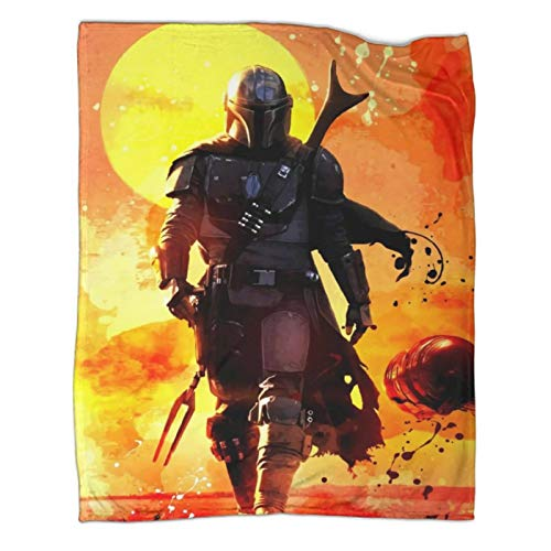 All Season Warm Lightweight Thermal Soft Blankets for Bed SofaThe Mandalorian Season 2 Poster Air Conditioning Blanket50x70inch(130x180cm)