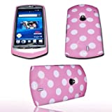 DESIGN - POINT PINK - SILIKON TPU HANDY COVER CASE Hülle Schale - für SONY ERICSSON Xperia NEO