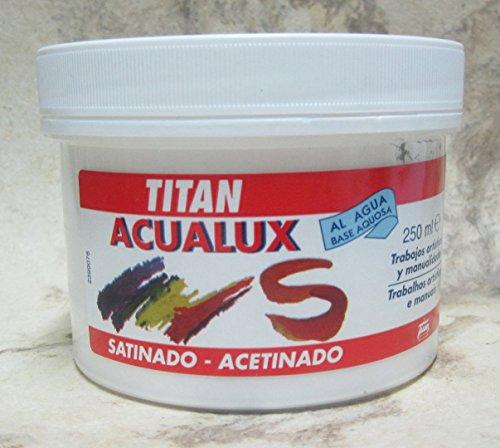ACUALUX SATINADO 250ML PINTURA ACRÍLICA (N.800 BLANCO)