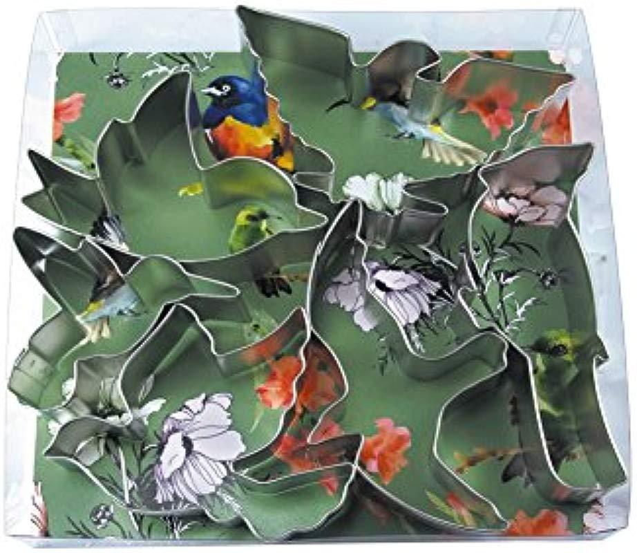 R M International 2003 Birds Cookie Cutters Bird American Eagle Cardinal Hummingbird Seagull Dove 6 Piece Set