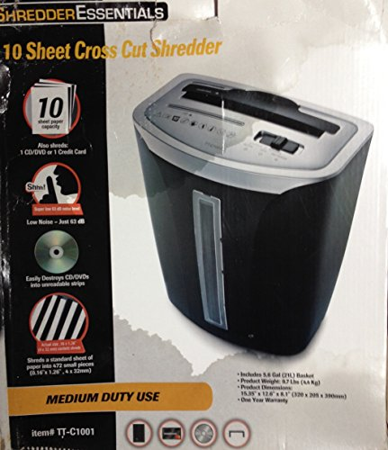Cheap ShredderEssentials 10 Sheet Cross Cut Shredder