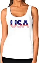 American USA Flag Girls Top 4th of July Patriotic Women Tank Top