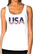 American USA Flag Girls Top 4th of July Patriotic Women Tank Top