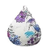 XGGYO Puff de Pera Clásica Bean Bag, Funda de Almacenamiento para Tumbona Perezosa Suave y Cómoda de Tela para Adultos y Niños (Sin Empastes) / C / 120×115cm