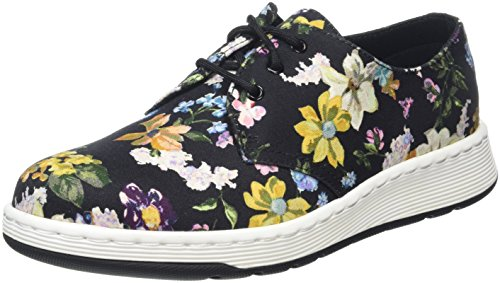 Dr. Martens Cavendish DF Black Darcy Floral Fine Can, Sneaker Donna, Nero, 37 EU