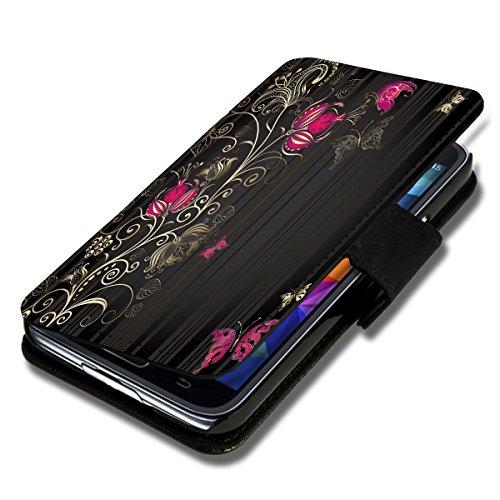 Book Style Flip Handy Tasche Hülle Schutz Hülle Schale Motiv Etui für Wiko Getaway - Flip 1X12 Design2