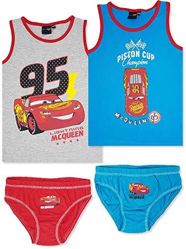 Disney Cars - 4-TLG. Jungen Unterwäsche-Set (134/140 (Herstellergröße: 8-9 Jahre))