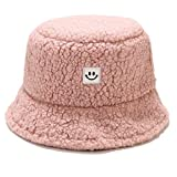 Umeepar, cappello invernale a secchiello in finto shaggy, caldo cappello da pesca da donna - rosa - Taglia unica