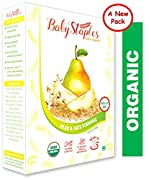 ORGANIC STEEL CUT OATS- These are 100% organic Non GMO Steel - Cut oats for babies combined with imported Pear WHY STEEL CUT OATS - We are the only Organic Baby Food brand to introduce Steel Cut Oats as they have bran & germ of the grain intact to pr...