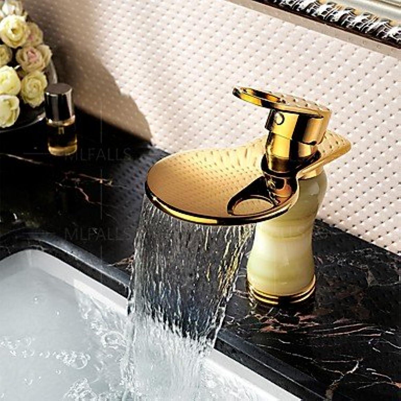 ZLL Wasserflle von Ti-PVD Oberflche behandelt Jadeit modernes Badezimmer Waschbecken Wasserhahn Einhebel
