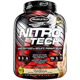 Whey Protein Powder | MuscleTech Nitro-Tech Whey Protein Isolate & Peptides | Lean Protein Powder for Muscle Gain | Muscle Builder for Men & Women | Sports Nutrition | Vanilla, 4 lb (40 Servings)