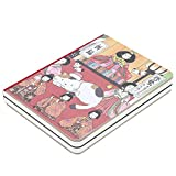 Cuaderno de composición, Cuadernos de la escuela universitaria Cuaderno del diario diario, portada impresa de dibujos animados japoneses, papel grueso, 5.7 '' * 4.1 '', 224 hojas(Bendición)