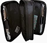 Chillpack Double Bag Diabetic Travel Organizer Cooler Bag for Insulin, Supply Kits with 2 x ice Pack Included, Black