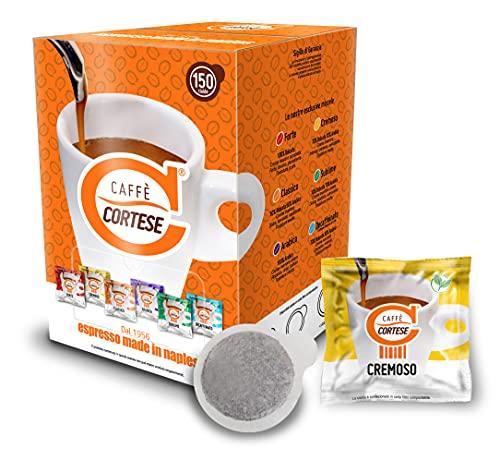 Caffè Cortese - Cialde ESE 44 in carta filtro compostabili - Cialde compostabili caffe napoletano (Miscela Cremoso)