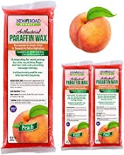 New Road Beauty Antibacterial Peach Paraffin Wax - Moisturize and Smooths Skin - Nourishing and Provides Massage Therapy - Pack of 3