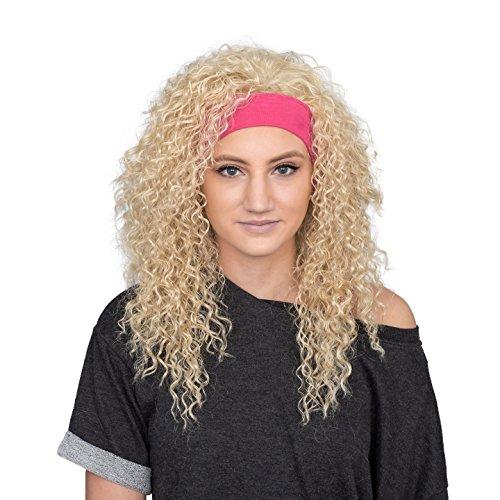 80s Aerobics Instructor Deluxe Wig and Headband Costume Set