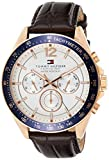 Tommy Hilfiger Men's 1791118 Sophisticated Sport Watch with Brown Leather Band