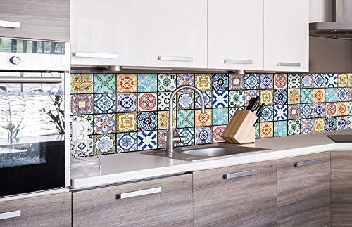 DIMEX LINE Küchenrückwand Folie selbstklebend AZULEJOS | Klebefolie - Dekofolie - Spritzschutz für Küche | Premium QUALITÄT - Made in EU | 260 cm x 60 cm