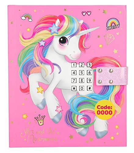 Depesche 10856 - Tagebuch mit Code, Sound und Lichteffekten, Ylvi und die Minimoomis, ca. 18 x 15 x 4 cm, rosa