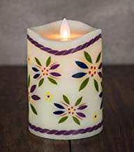 Mystique by Boston Warehouse - temp-tations by Tara - Moving Flame - Flameless LED - Paraffin Wax - Pillar Candle - 3.25