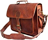 Urban'O' Echte Herren Vintage Umhängetasche Schulter Laptop Aktentasche Echtes Gepäck Leder Leder Messenger 12X16'