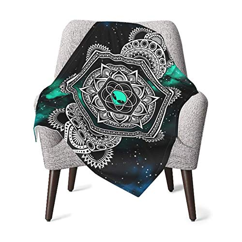XCNGG Mantas para bebes mantas comodas para bebes Flannel Receiving Alien floweroflife Galaxy Mandala Psychedelic Baby Blanket, Plush Receiving Blanket for Boys, Girls, Newborns, Toddlers
