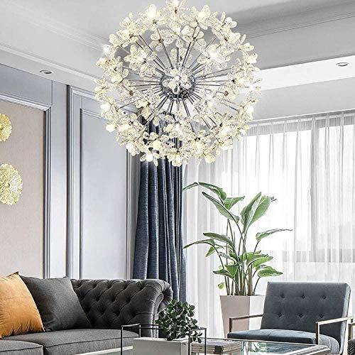 PXY Lámpara Colgante de Comedor de 45 cm de Alta Calidad Y Atractivo, Lámpara Colgante de Cristal K9 de 18 Luces Lámpara de Techo Dorada Moderna Ii G4 Fuente de Luz Decorativa Lámpara de Techo para S