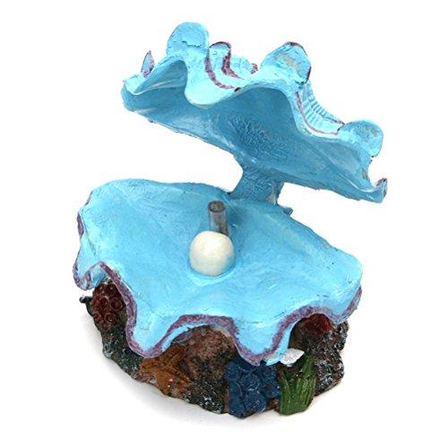 Decorazione dell'acquario decorazione artificiale Shell Peals nascondendo grotta per ornamento decorazione serbatoio di pesce (azzurro)