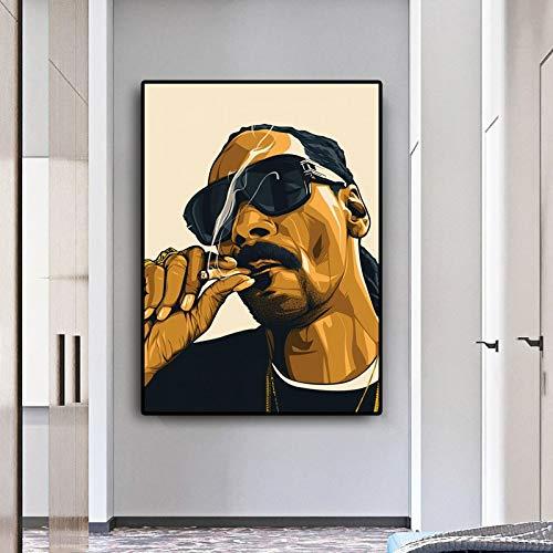Puzzle 1000 piezas Rapero fumando Snoopy Dog Hip Hop Character Art Painting puzzle 1000 piezas paisajes Rompecabezas de juguete de descompresión intelectual educativo divertid50x75cm(20x30inch)