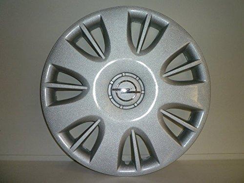 Lot de 4 Enjoliveurs Enjoliveur Boutons Clous de voiture Coupes Rivets Roue Opel Corsa r 15 depuis 2006 (Sc 463L) Logo Chromé