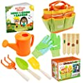 Kids Gardening Tools - Includes Sturdy Tote Bag, Watering Can, Gloves, Shovels, Rake, Stakes, and a Delightful Children's Book How to Garden Tale - Kids Garden Tool Set for Toddler Age on up.