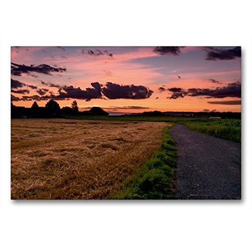 CALVENDO Premium Textil-Leinwand 90 x 60 cm Quer-Format Letztes Tageslicht bei Niederbottigen, Leinwanddruck von Thomas Wahli