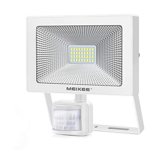 MEIKEE 30W LED Strahler mit Bewegungsmelder 3000LM Superhell LED Fluter IP66 Wasserdicht Außenstrahler Flutlichtstrahler Scheinwerfer Licht Wandleuchte für Garten Garage Sportplatz Hof