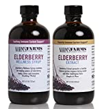 Norm's Farms Supplement Two Pack, Black Elderberry Wellness Syrup and Black Elderberry Extract, 8 Ounce Jars