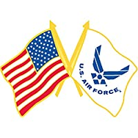 U.S. AIR FORCE, Cross Flag USA & USAF Small - Original Artwork, Expertly Designed PIN - 1""