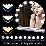 Schminktisch Beleuchtung, Hollywood Spiegel, 10 LEDs Licht Mit 3 Licht Modus und 10 Dimmbare Helligkeiten für Kosmetikspiegel/Schminktisch/Badzimmer Spiegel [Energieklasse A+++]