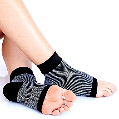 SiaMed® Kompressionssocken | Fußbandagen | Knöchelbandage für Plantarfasziitis und Fersensporn | Sport und Arbeit | Männer und Frauen (S/M)