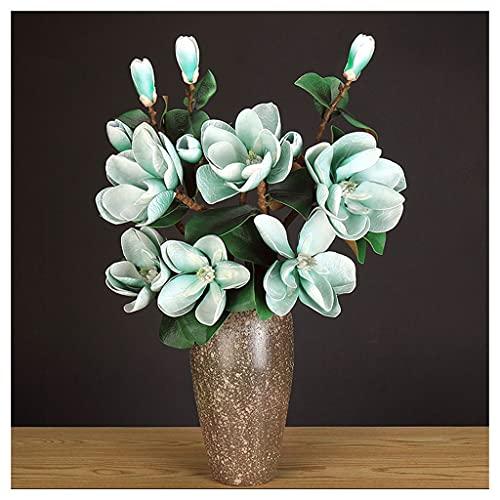 Blumensträuße aus Kunststoff Simulation Magnolia Gefälschte Blume Wohnzimmer Dekoration Couchtisch Floral Esstisch TV Kabinett Hoteleingang Kunststoff Künstliche Blume Gefälschte Blumensträuße