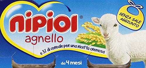 Nipiol Alimento per L'Infanzia, Omogenizzato con Agnello e Cereale, 160ml