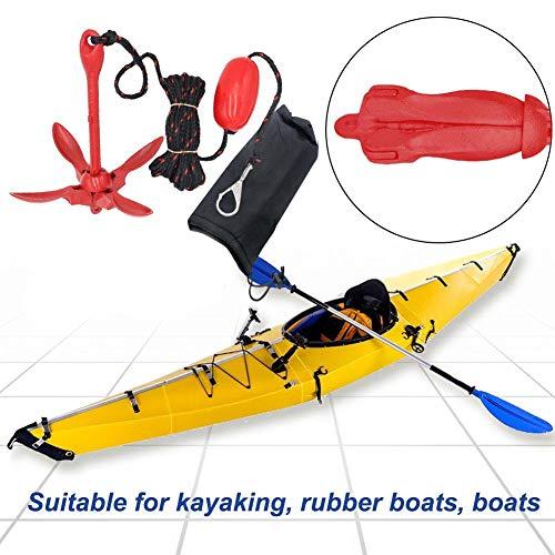 Marine Kayak Anker mit 29ft Seil, Klappanker Bojen Kit für Angelkajaks, Kanu, Jet Ski, SUP Paddle Board und kleine Boote